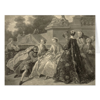 Court Society Versailles 1731 Card