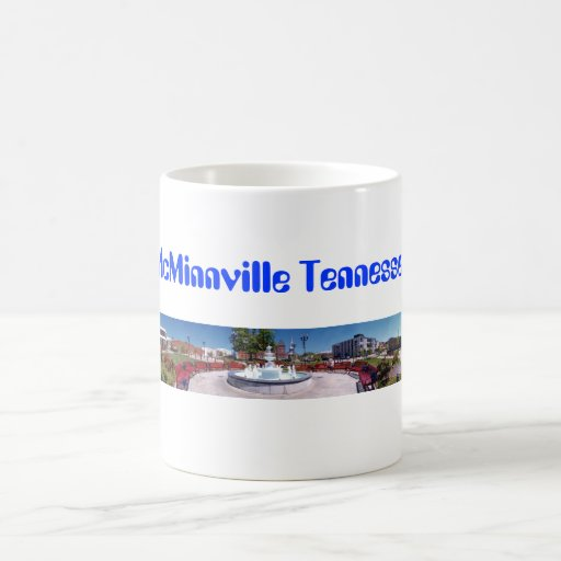 Court Square and  Park McMinnville Tennessee Mug
