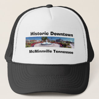 Court Square and Park McMinnville Tennessee, Trucker Hat