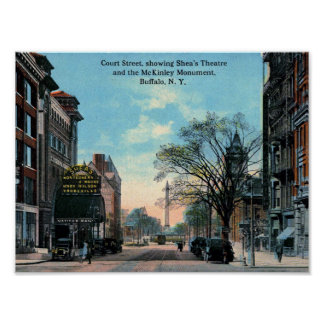 Court St., Shea's Theatre, Buffalo, NY Vintage Poster