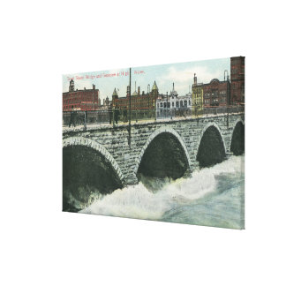 Court Street Bridge and Genesee at High Water Canvas Print