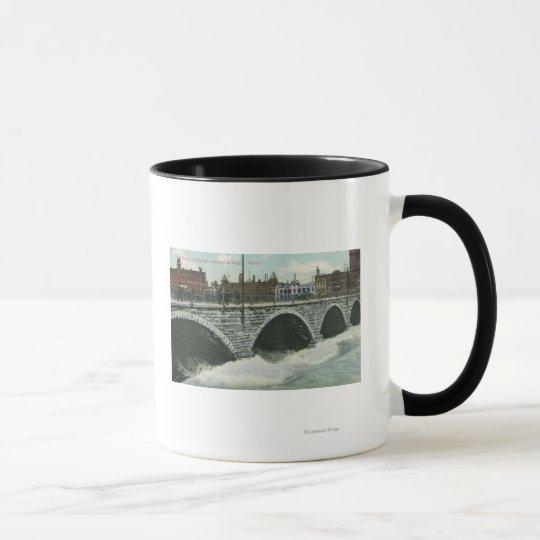 Court Street Bridge and Genesee at High Water Mug