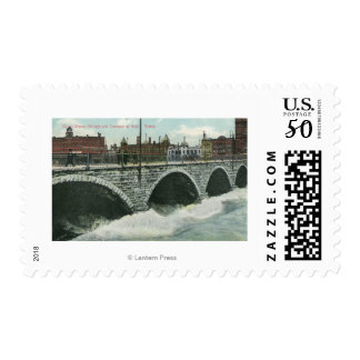 Court Street Bridge and Genesee at High Water Postage