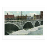 Court Street Bridge and Genesee at High Water Postcard
