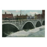 Court Street Bridge and Genesee at High Water Poster