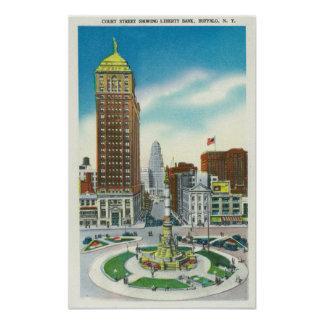 Court Street View of Liberty Bank Bldg Print