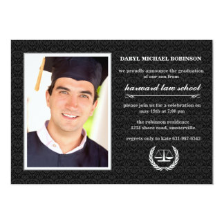 Court Symbol Photo Law School Graduation Invite
