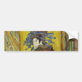 Courtesan after Eisen by Vincent Van Gogh Car Bumper Sticker
