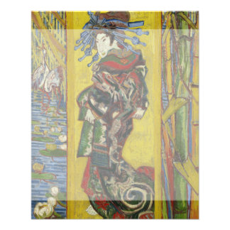 Courtesan after Eisen by Vincent Van Gogh Flyer Design