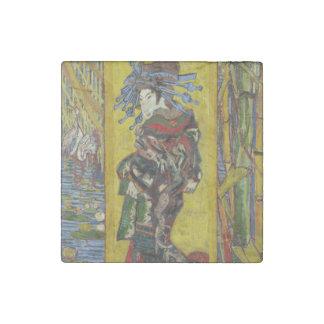 Courtesan after Eisen by Vincent Van Gogh Stone Magnet