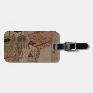 Courtesan and Kamuro in a parlour. Tag For Bags