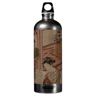 Courtesan and Kamuro in a parlour. Water Bottle