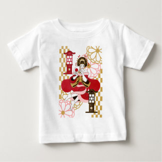 Courtesan and paper-covered lamp stand (Oiran and Baby T-Shirt