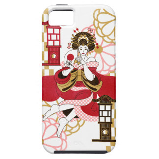 Courtesan and paper-covered lamp stand (Oiran and iPhone SE/5/5s Case