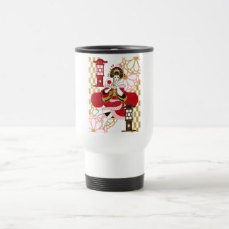 Courtesan and paper-covered lamp stand (Oiran and  15 Oz Stainless Steel Travel Mug