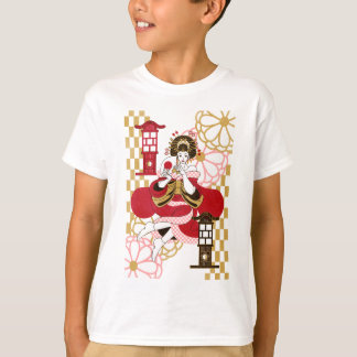 Courtesan and paper-covered lamp stand (Oiran and T-Shirt