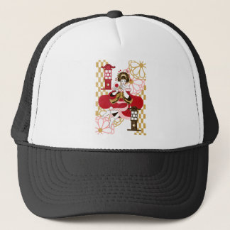 Courtesan and paper-covered lamp stand (Oiran and Trucker Hat