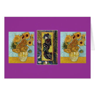 Courtesan and Sunflowers by Van Gogh Card