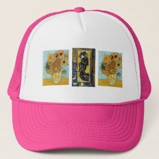 Courtesan and Sunflowers by Van Gogh Trucker Hat