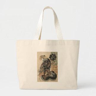 Courtesan Hanaogi from the Ogi house by Keisai Large Tote Bag