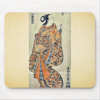 Courtesan likened to the sage by Okumura,Masanobu Mousepads