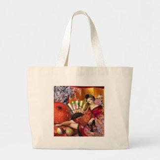 Courtesan (Oiran) Large Tote Bag