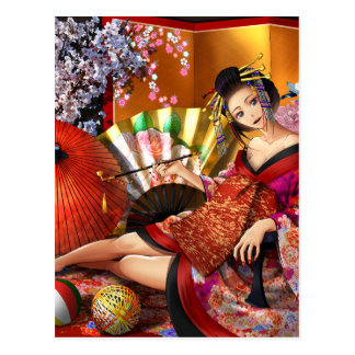Courtesan (Oiran) Postcard