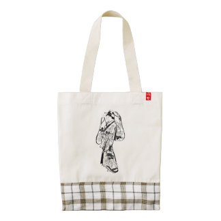 Courtesan Placing a Hairpin in Her Hair Zazzle HEART Tote Bag