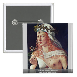 Courtesan (Portrait Of Lucrezia Borgia?) Pinback Button