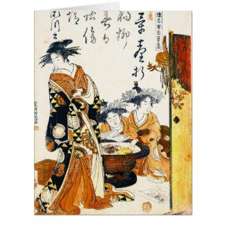 Courtesan Segawa 1784 Large Greeting Card