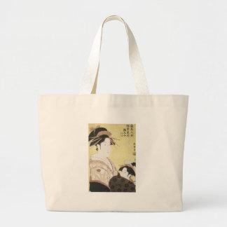 Courtesan Somenosuke, Choki, 1795 Large Tote Bag
