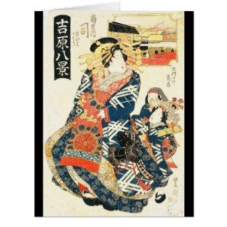 Courtesan Tsukasa 1828 Card