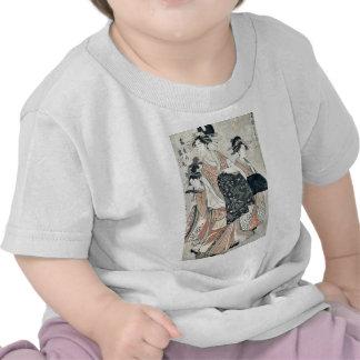 Courtesan Tsurunoo of Tsura ya by Chokosai Eisho Shirts