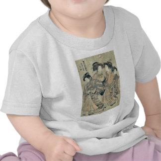 Courtesan Wakamatsu of Otawara ya by Isoda,Korysai Tee Shirts