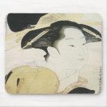 Courtesan Yosooi, Eisho, 1790s Mousepad