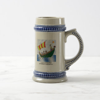 Courtesy Among Galley Slaves Beer Stein