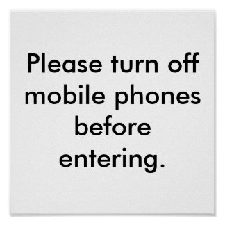 Courtesy Office Sign Please Turn Off Mobile Phones Poster