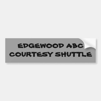 Courtesy Shuttle Bumper Sticker