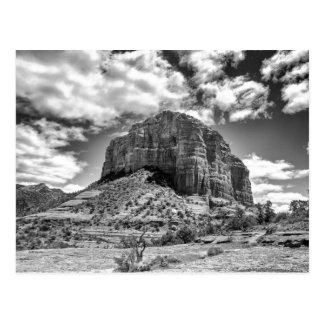 Courthouse Butte - Black & White | Postcard