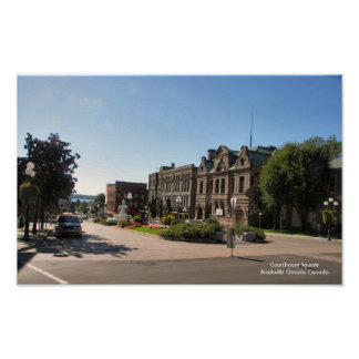 Courthouse Square - Brockville Ontario Poster