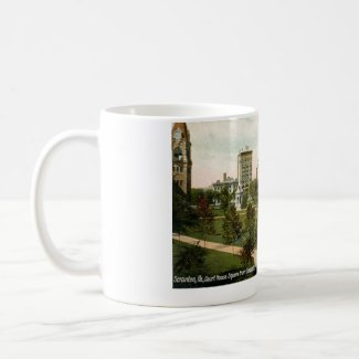 Courthouse Square, Scranton, PA 1910 Vintage mug