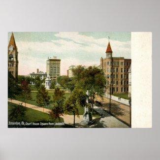 Courthouse Square, Scranton, PA 1910 Vintage print