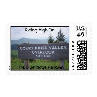 CourtHouse Valley Overlook Sign Elev. 5365 Postage Stamp