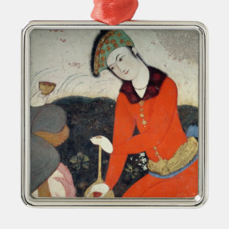 Courtier at the Court of Shah Abbas I Metal Ornament