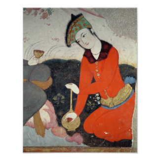 Courtier at the Court of Shah Abbas I Poster
