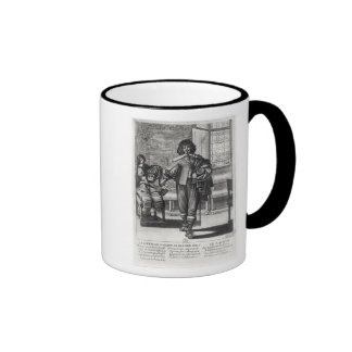 Courtier following the last royal edict ringer coffee mug