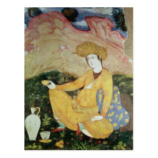 Courtier from the Court of Shah Abbas I Postcard