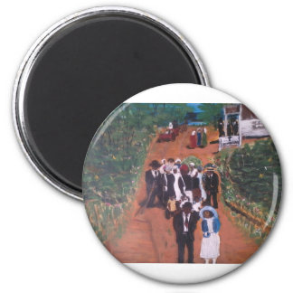 Courtin After Church 2 Inch Round Magnet