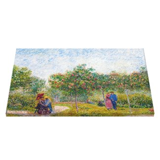 Courting Couples in the Voyer d'Argenson Park Gogh Gallery Wrapped Canvas