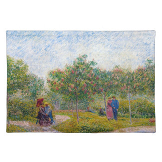 Courting Couples in the Voyer d'Argenson Park Gogh Placemat